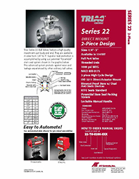 22 Series Manual & Automated Ball Valve Packages