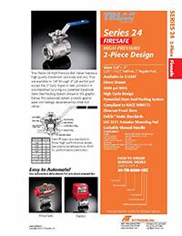 24 Series Firesafe High Pressure 2-Piece Ball Valve Packages