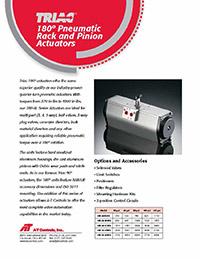 180 degree Pneumatic Rack and Pinion Actuator