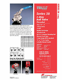 38 Series 3-Way Ball Valve Packages