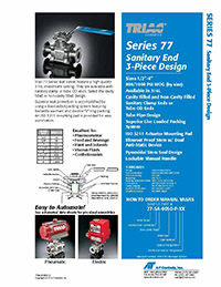 77 Series Sanitary End 3-Piece Ball Valve Packages