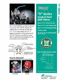 V Series, V-Port Control Manual Ball Valve