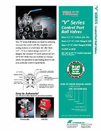 V Series, V-Port Control Manual Ball Valve