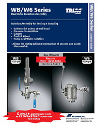 WB/W6 Series Dual Isolation / Block and Bleed Valve