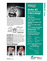 83 Series 3-Piece High Performance Ball Valve Packages