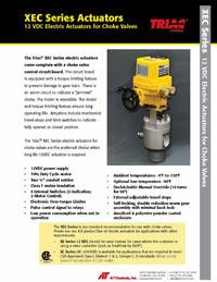 XEC Series 12 VDC Electric Actuators for Choke Valves