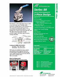 88 Series Manual Valve & Automated Ball Valve Packages