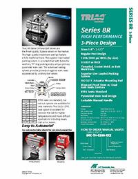 8R Series 3-Piece High Performance Regular Port Ball Valve