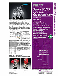 90 & 93 Series Flanged Ball Valve & Automated Packages