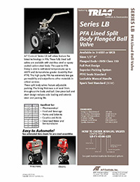 LB Series: PFA Lined Ball Valve & Automated Packages