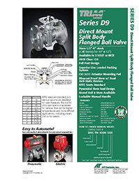D9 Series Flanged Ball Valve & Automated Packages