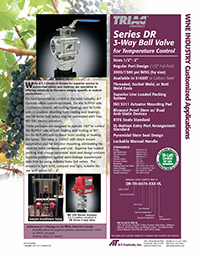 DR Series 3-Way Ball Valve for Temperature Control (Ideal for Wine Industry Applications)