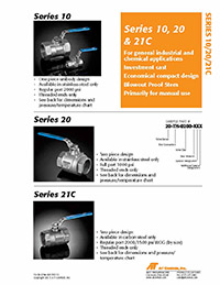 10, 20, 21 Series Manual Ball Valve