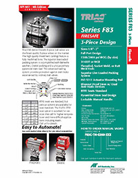 F83 Series Manual & Automated Ball Valve Packages