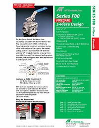 F88 Series Firesafe 3-Piece Ball Valve Packages