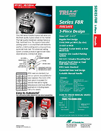 F8R Series Firesafe 3-Piece High Performance Regular Port Ball Valve