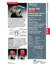 F91 Series: ANSI 150 Flanged Firesafe Regular Port Ball Valve & Automated Packages
