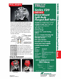 FD9-F1 Series ANSI 150 Firesafe Flanged Ball Valve Packages