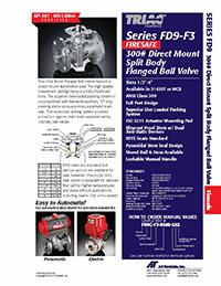 FD9-F3 Series ANSI 300 Firesafe Flanged Ball Valve Packages