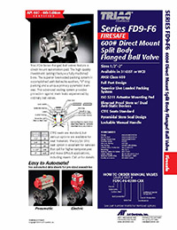 FD9-F6 Series ANSI 600 Firesafe Flanged Ball Valve Packages