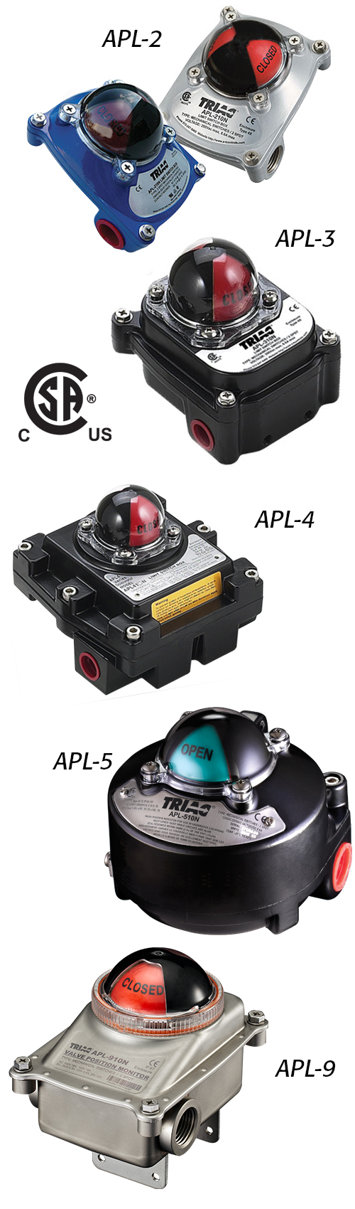 APL Series: CSA Approved Limit Switches
